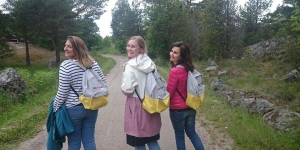 Three pilgrims on Korpo