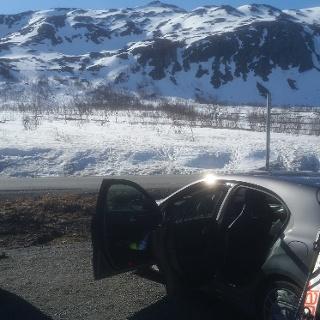 Blick vom Parkplatz zum Gipfel