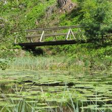 Brücke am Huzenbacher See