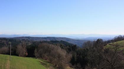 Blick auf die Alpen und das Wiesental