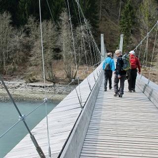 Hängebrücke Punt Ruinaulta.