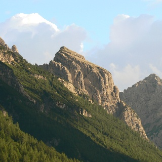 Tramonto sul monte Hoberdeirer