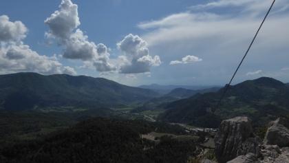Blick vom Hauptgipfel Richtung Rhonetal