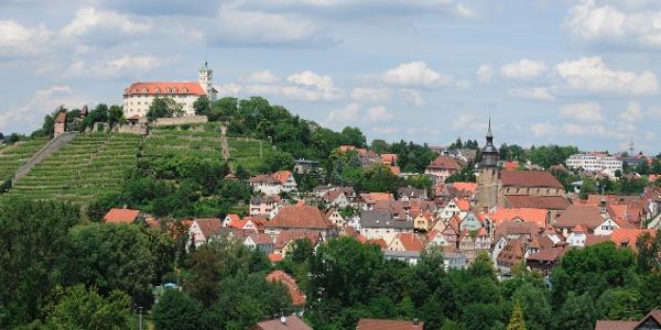 Blick auf Schloss Kaltenstein und Vaihingen an der Enz
