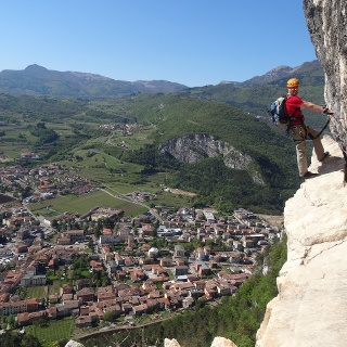 Der Klettersteig Monte Albano, mit Blick über Mori