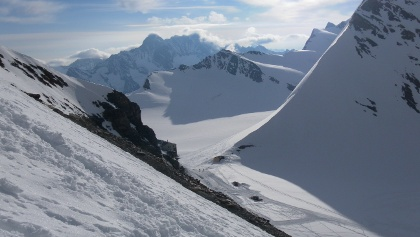Westflanke des Walcherhorns hinter dem Oberen Mönchsjoch