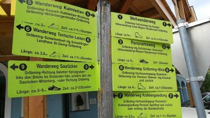 """Den grünen Wegweisern oder dem Track von """"alpenvereinaktiv.com"""" folgen."""
