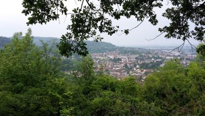 Ausblick auf Weinheim