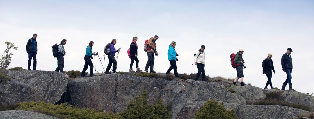 St Olav Waterway hikers