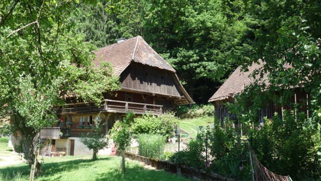 Ein erstes Schwarzwaldgehöft im Dreisamtal