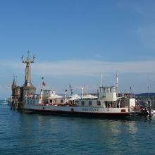 Das Ziel der Konstanzer Hafen mit der Imperia ist erreicht.