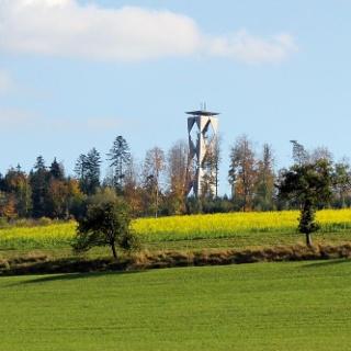 Blick auf den Altenbergturm in Sulzbach/Laufen