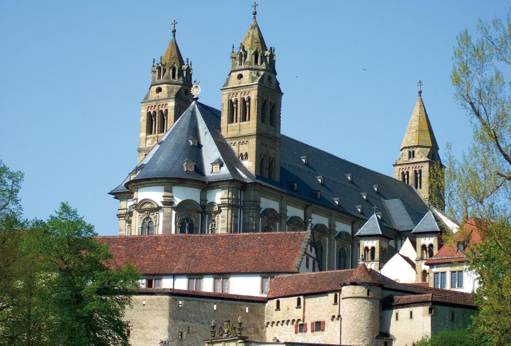 Comburg in Schwäbisch Hall - ehemalige Benediktinerabtei  - @ Autor: Dr. Konrad Lechner  - © Quelle: Hohenlohe + Schwäbisch Hall Tourismus e.V.
