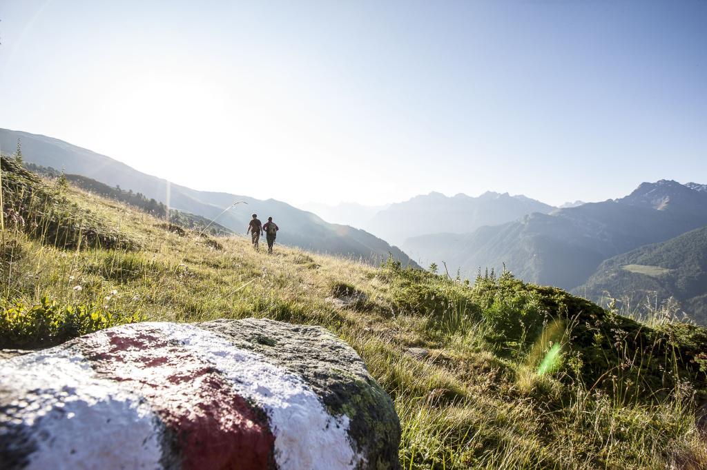 Wanderer im Schweizerischen Nationalpark