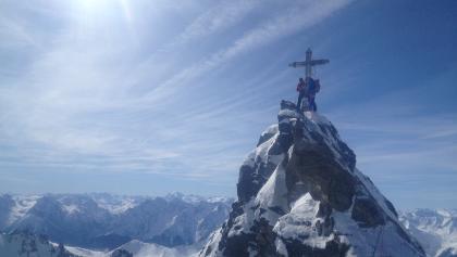 Auf dem Gipfel der Dreiländerspitze