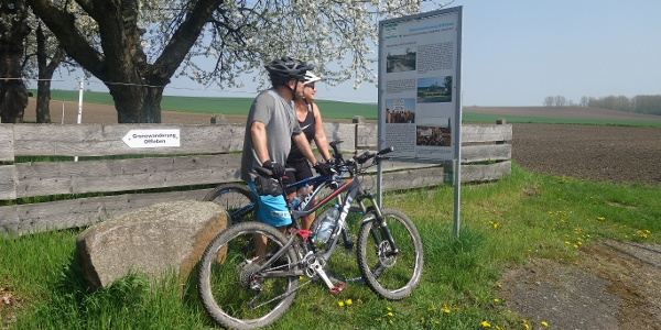 Grenzwanderung Offleben 4. Station an der ehemaligen Gaststätte Grenzblick