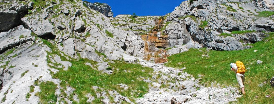 Auf den Hebenkas über den Ostgrat (SG II) aus dem Finsterriegelkar mit Abstieg durchs Turmtal (I+)