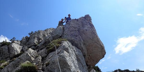 Am Ende des Klettersteiges