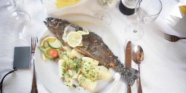 Frischer Fisch beim Karlwirt