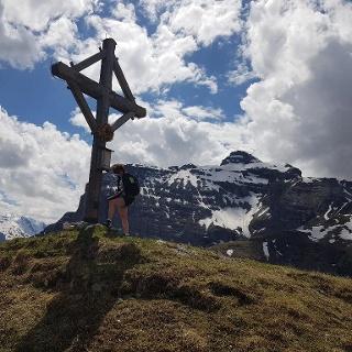 Der Padasterkogel (2.301 m) mit Blick zur Kirchdachspitze (2.840 m)