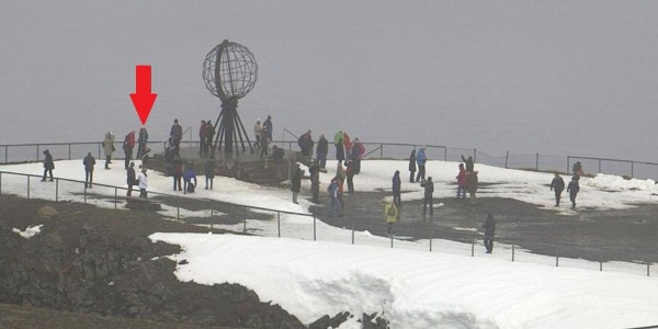 Thair Abud am Nordkapp 71º 10' 21""