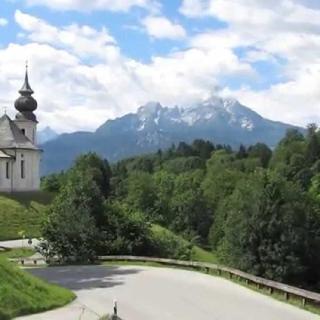 St. Maria Gern, Watzmannblick / Postkartenidylle pur im Berchtesgadener Land