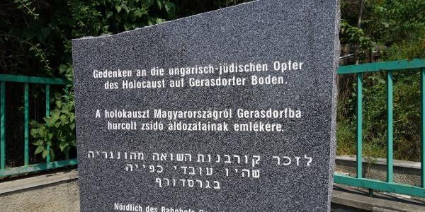 Gedenktafel bei der S-Bahn Gerasdsorf