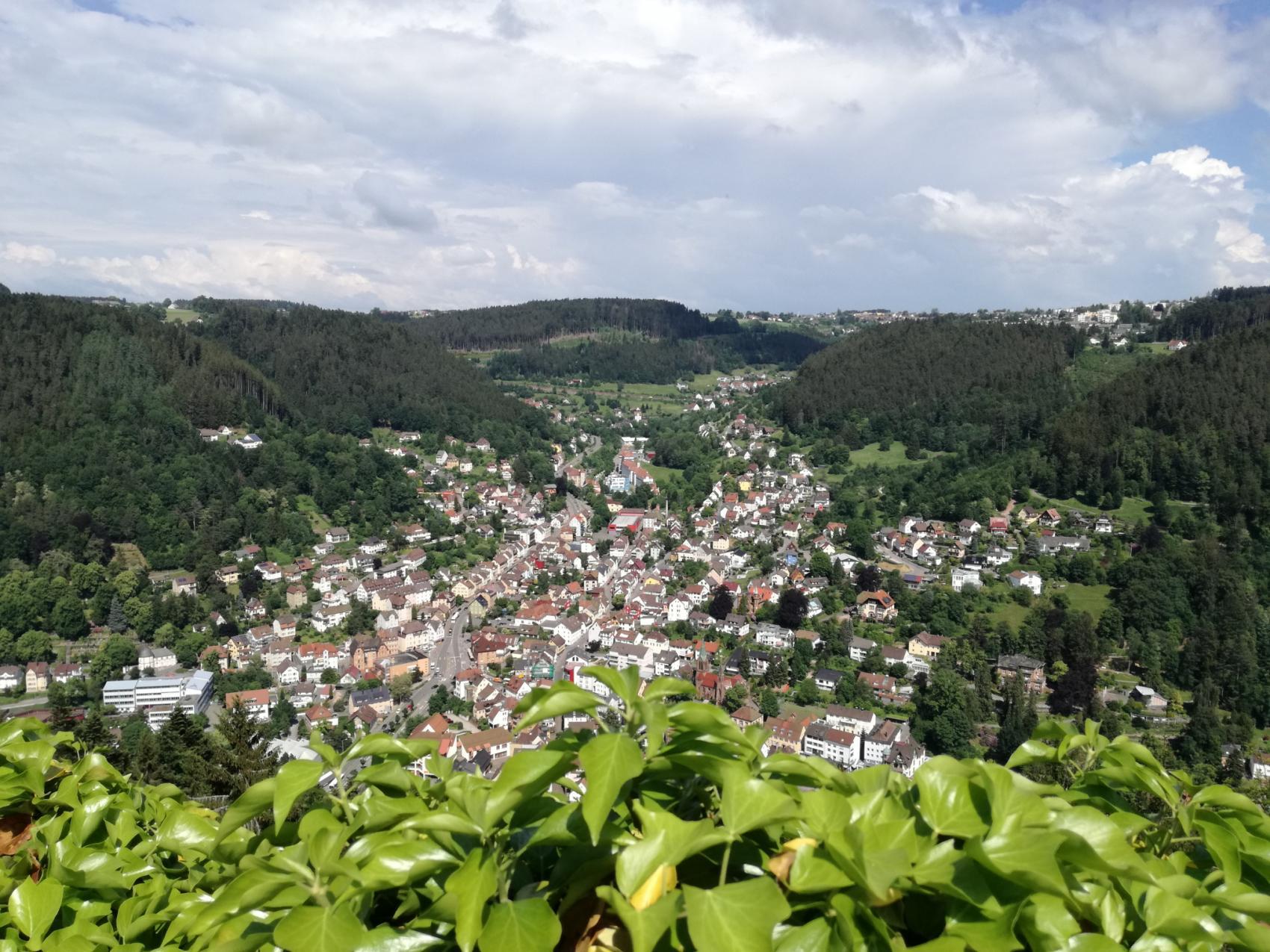 Aussicht über Schramberg von der Burgruine Hohenschramberg
