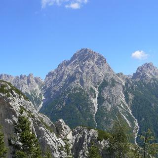 La Terza Grande vista da ovest. Sulla destra il passo Oberenghe e la Cresta di Enghe