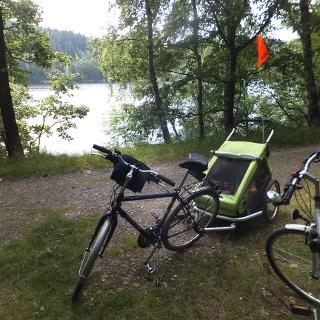 Radwandern an der Talsperre Klingenberg