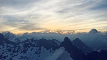 Sunrise at Torrenthorn peak
