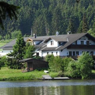 Start bei Pension Seewolf am Edlesberger See