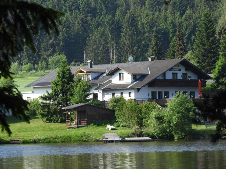 Start bei Pension Seewolf am Edlesberger See