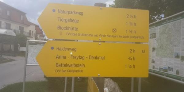 Start und Ziel beim Kurhotel Bad Großpertholz