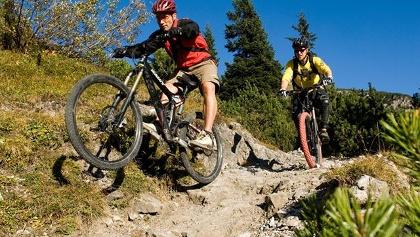 Mountainbiken im Klostertal
