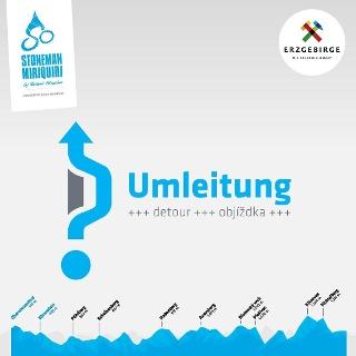 Umleitung Stoneman Miriquidi MTB Etappe Fichtelberg Bärenstein