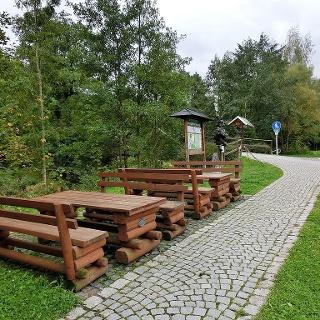 Wanderstart an der Selbitzbrücke in Blankenstein