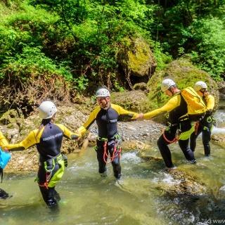 Canyoning Teamarbeit