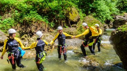 Canyoning Teamarbeit