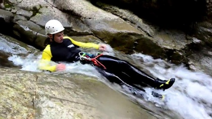 Canyoning in der Starzlachklamm 2018 - canyoning erleben