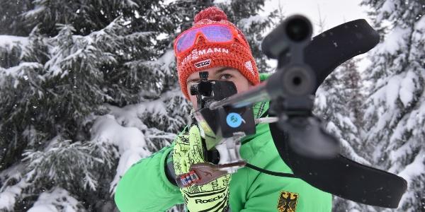 Biathlon-Schießen