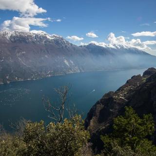 Gardaseeblick vom Via Ferrata Fausto Susatti