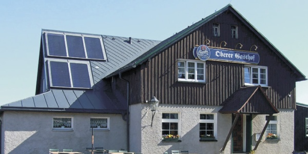 Außenansicht der Gaststätte Oberer Gasthof Schellerhau