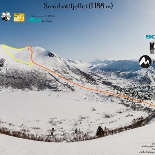 Übersichtsbild Skitour Smorbottfjellet in Norwegen