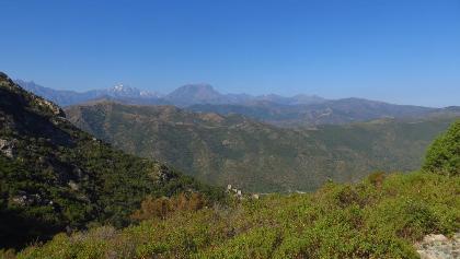 Bis zu den höchsten Bergen von Korsika