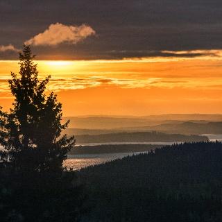 Sunset in the Koli National Park