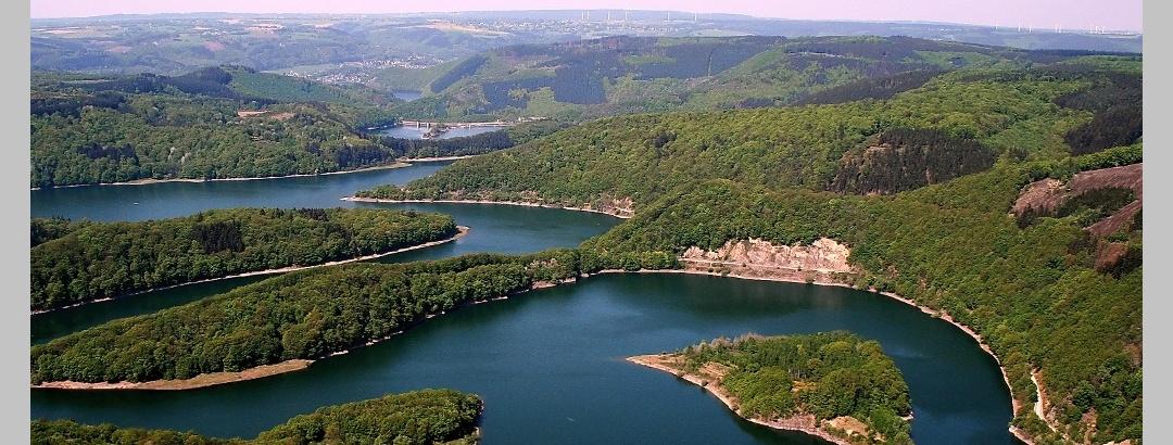 Eifelsteig Etappe 4: Einruhr - Gemünd_Urftsee Luftaufnahme