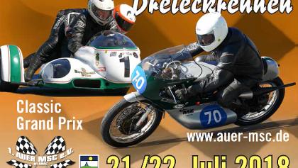 Plakat zum Zschorlauer Dreieckrennen