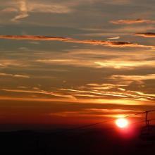 Sonnenaufgang beim Alpengasthof Enzian