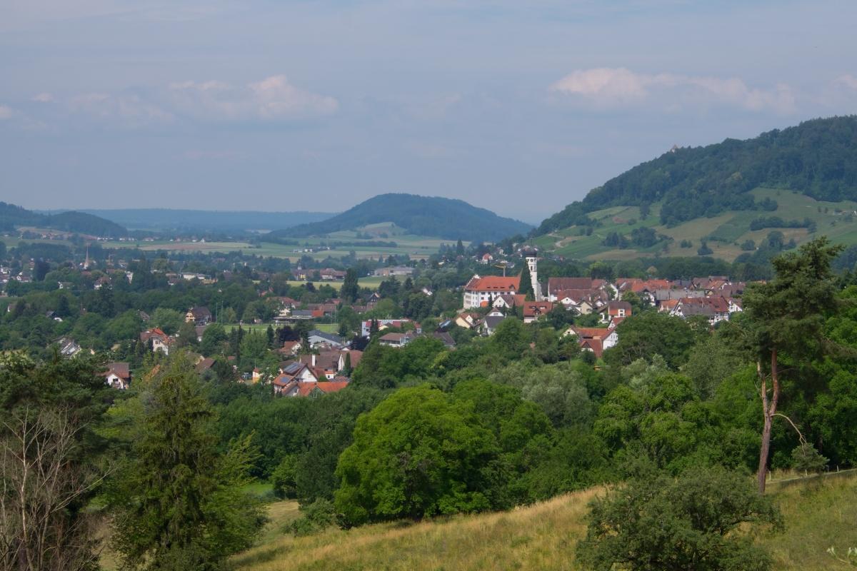Blick vom Kattenhorner Bühl auf Öhningen